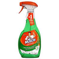 Моющее средство Жидкость для мытья стёкл с распылителем, 500 мл, Мистер Мускул, 0153449 (0153449 x 132185)