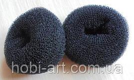 Спонж для волосся 8 см чорний