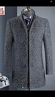 Осінньо-зимовий вовняне пальто чоловіче в корейському стилі, ультратонкі лаковане вовняне пальто в корейському стилі, вовняне пальто і товсте
