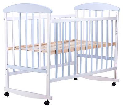 Кровать Наталка ОБГ Ольха бело-голубая (623050)
