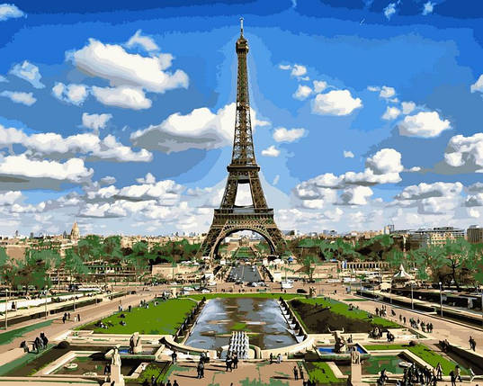 Набор-раскраска по номерам Эйфелева башня весной , фото 2