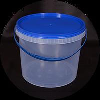 Ведро пластик 5л +крышка синяя с ручкой прозрачнойачное 0175150 (0175150 x 128533)