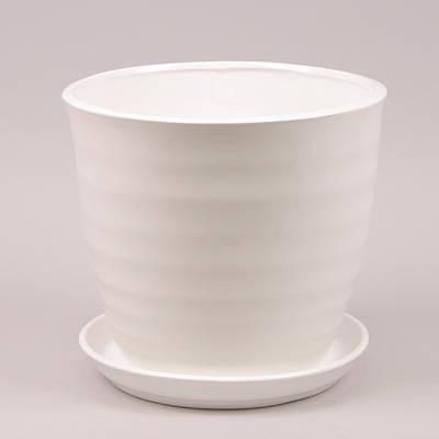Горшок керамический Обруч Flora  2.3л White (LI10073)