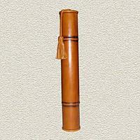 Тубус стандартный Dн-52 мм Dв - 42 мм L-345 мм натуральная кожа Foliant (EG457 x 97503)