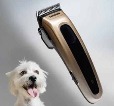 Машинка для стрижки животных беспроводная на аккумуляторах Tiross TS-1348 Gold (112474)