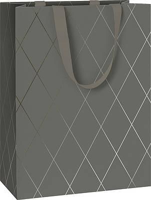 Пакет подарочный Stewo Join Graphic dark grey 25 х 13 х 33 cm