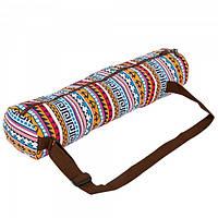 Сумка для йога коврика Yoga bag KINDFOLK FI-8365-1 Orange (SK00189)