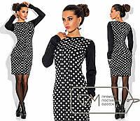 Платье трикотажное в горошек,  размер S, укр.42