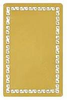 Визитка металлическая для сублимации с орнаментом (золото) 86*54 мм