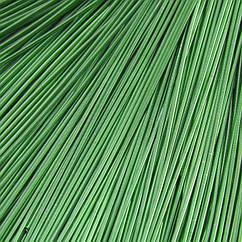 Канитель Гладкая, Цвет: Зеленый, Диаметр 1мм, Отрезки не Менее 15см, около 580см/10г, 10 г