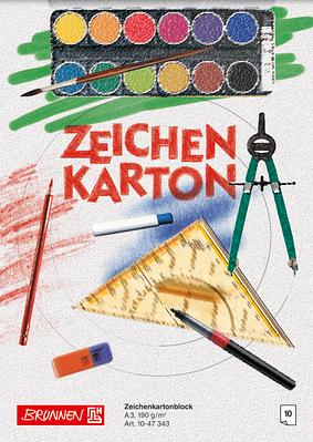 Альбом для рисования А3 Brunnen клеенный блок обложка офсетный картон 190 г/м2 10 листов (1047343)