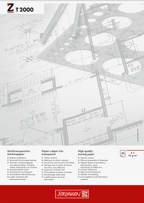 Альбом для эскизов и макетов А3 Brunnen клеенный блок  обложка Chromolux прозрачная бумага70 г/м2, 25 листов