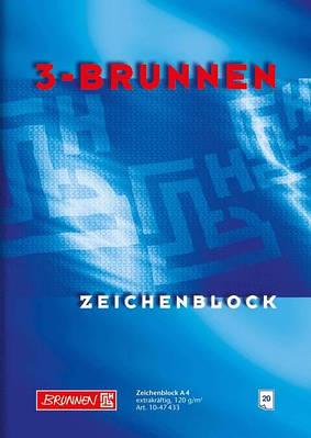 Альбом для рисования А4 Brunnen 120 г/м2, 20 листов синяя обложка (1047433)