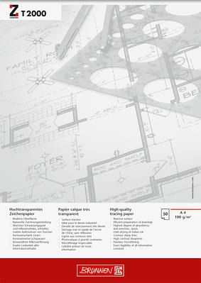 Альбом для эскизов  А4 Brunnen клеенный блок обложка Chromolux прозрачная бумага 100 г/м2, 50 листов (1047464)