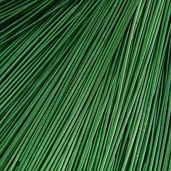 Канитель Гладкая, Цвет: Изумруд, Диаметр 1мм, Отрезки не Менее 15см, около 580см/10г, 10 г