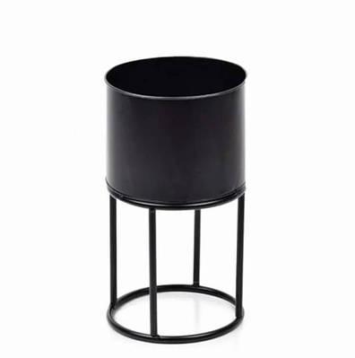 Кашпо металлическое SWEN BLACK на подставке Flora 30336 (SKL00021)