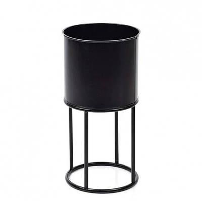 Кашпо металлическое SWEN BLACK на подставке Flora 30337 (SKL00024)