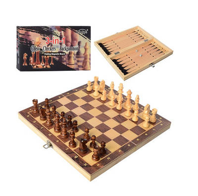 Шахматы, шашки, нарды 3в1Bambi W7702 (LI10308)