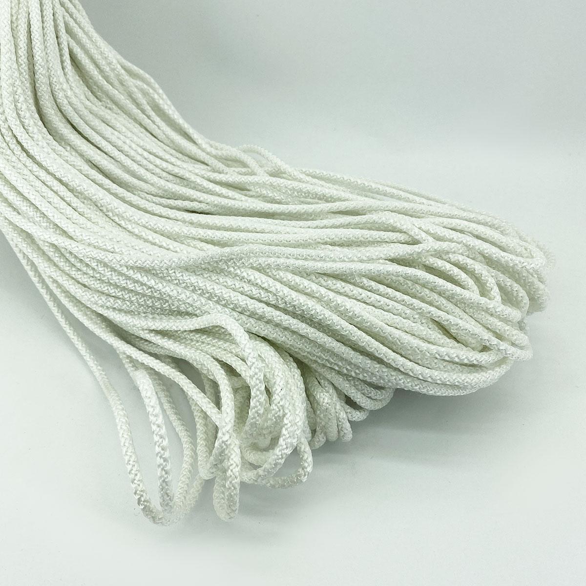 Кольоровий шнур з сердечником для в'язання 4 мм 100 м білий
