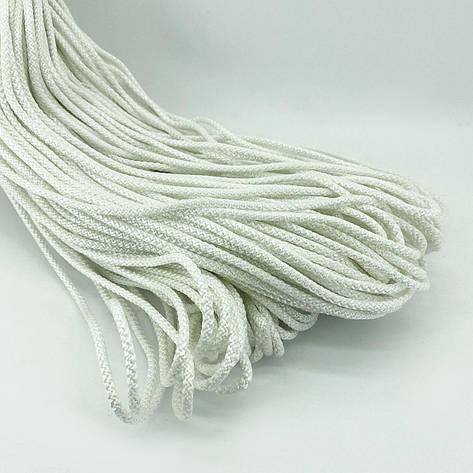 Кольоровий шнур з сердечником для в'язання 4 мм 100 м білий, фото 2