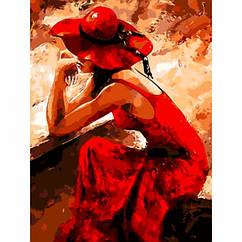 """Картина по номерам """"Мысли"""", Холст на Деревянном подрамнике, Акриловые Краски, Кисти, Размер: 40х50см, 1 шт"""