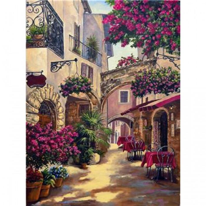 """Картина по номерам """"Узкие улочки"""", Холст на Деревянном Подрамнике, Акриловые Краски, Кисти, Размер: 40х50см,"""