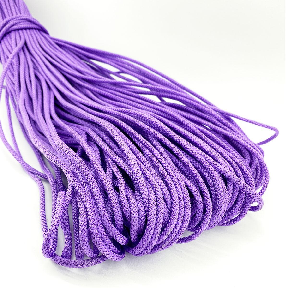 Цветной шнур с сердечником для вязания 4мм/100м фиолетовый