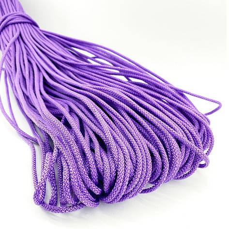 Цветной шнур с сердечником для вязания 4мм/100м фиолетовый, фото 2