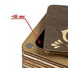 Шкатулка для Рукоделия с Деревянной Крышкой 5.5х6х4.5см Упак.: 1 шт, фото 3
