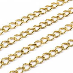 Якірна Ланцюг, Нержавіюча Сталь, Колір: Золото, Розмір: 3.5x2.5x0.5 мм, (УТ100021260)