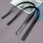 Ручки для Сумок, Пришивные, Искусственная Кожа, Цвет: Черный, Размер: 618x18.5x3.5мм, Ответстие 2.5мм, Упак.:, фото 3