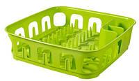 Сушилка для посуды пластиковая зеленая 390Х390Х101 мм Curver CR-00742-3