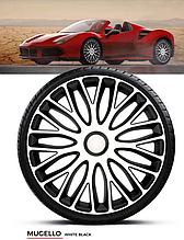 Колпаки колесные Mugello White Black R15
