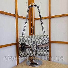 Сумочка Gucci с бежевой отделкой
