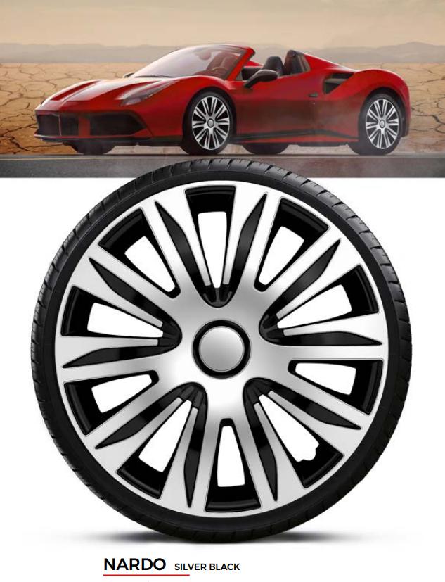 Колпаки колесные Nardo Silver Black R16