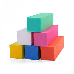 Баф для Ногтей 4-х Сторонний, Размер: 9.5х2.4х2.4см, Цвет: Рандомный, 1 шт