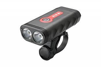 Велофара передняя 600лм питание Li-on 4400mAh USB BC-FL1580 2 светодиода (LTSS-032)