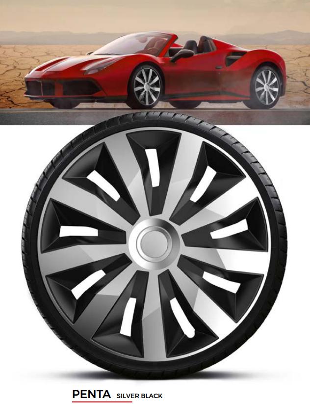 Колпаки колесные Penta Silver Black R16