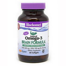 Омега-3 Формула для мозга Bluebonnet Nutrition Omega-3 Brain Formula 60 желатиновых капсул КОД: BLB0944