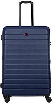 Чемодан пластиковый Wenger, Ryse, большой, 4 колеса (синий)
