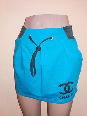 Спідниця жіноча з кишенями Coco Chanel р. 48 Електрик