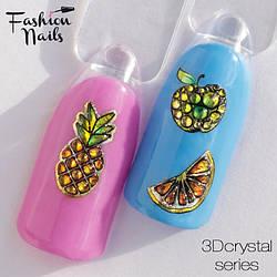 3D-декор для дизайна ногтей со стразами Наклейки водные для ногтей Фрукты Ананас Авокадо Слайдер дизайн 3D