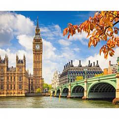 """Картина по номерам """"Лондон"""", Холст на Деревянном подрамнике, Акриловые Краски, Кисти, Размер: 40х50см, 1 шт"""