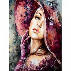 """Картина по номерам """"Леди"""", Холст на Деревянном подрамнике, Акриловые Краски, Кисти, Размер: 40х50см, 1 шт"""
