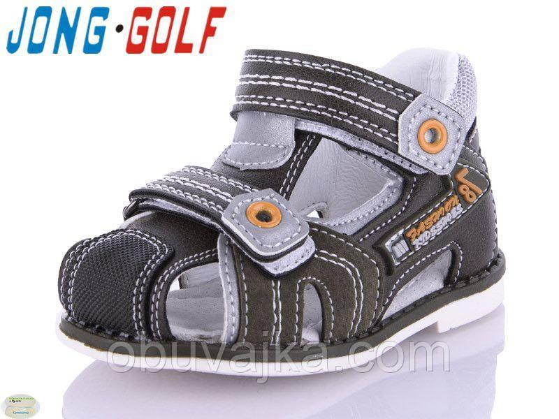Детская летняя обувь 2021 оптом. Детские босоножки бренда Jong Golf для мальчиков (рр. с 19 по 24)