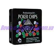 Покерный набор в металлической коробке