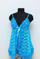 Пеньюар, кружевной цвет голубой Оks 6517 /061