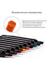 Набір скетч маркерів для малювання Touch Raven 24 шт./уп. двосторонні професійні фломастери для, фото 3