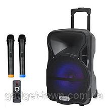 Акустична система з двома радіомікрофонами LiGE-AJ15DKS 15 дюймів Супер звук!
