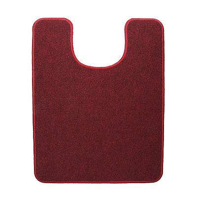 Электрический коврик с подогревом в туалет Теплик 55 х 70 см с термо- и гидроизоляцией Темно-красный